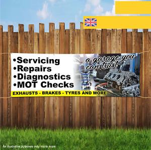 Car Garage MOT Repairs Diagnostics Outdoor Heavy Duty PVC Banner Sign 2061