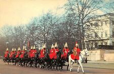 BR5619 london Wearing their scarlet winter gretcoats Lif guards  uk