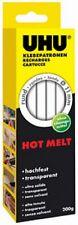 UHU Recharge pour collage à chaud Hot Melt, 200 g,transparent