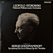 RACHMANINOFF: Symphony No. 3/Vocalise-M1975LP STOKOWSKI/NATIONAL PHILHARMONIC