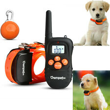 330 Yard Rechargeable Waterproof LCD Shock Vibra Remote Pet Dog Training Collar