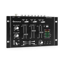 Mixer Table mixage DJ 3 canaux Amplificateur Bluetooth AUX Line phono Jack Noir