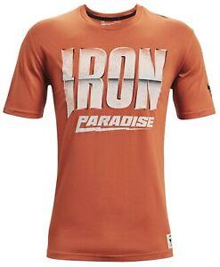 Under Armour Men's Project Rock Iron Paradise T-Shirt (Orange Oxide) 1363557-843