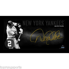 Derek Jeter Facsimile Signed NY Yankees 12x22 Framed The Captain Photo Steiner