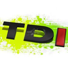 "Black & Red ""TDI""Letter Logo Trim Badge Metal Emblem Decal Auto Exterior Sticker"