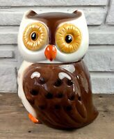Owl Cookie Jar Ceramic Storage Container with BONUS owl plate! Christmas Gift