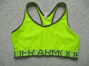 Under Armour Sports Bra Medium Green Neon Compression Crossback