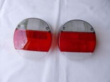 VW SUPERBEETLE TAIL LAMPS SMOKED CLEAR 1973-1979 MADE BY HELLA NEW PAIR