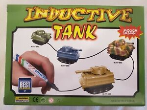 Inductive Army Grey Toy Tank, Follows Drawn Marker Line Learning creativity