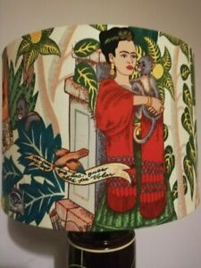 30cm Hand Made Lampshade. Frida Kahlo's Garden. For Table Lamp