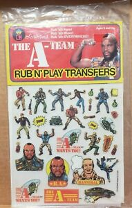 The A-Team 1983 Colorforms Rub N' Play Transfer Brand New Factory Sealed NOS