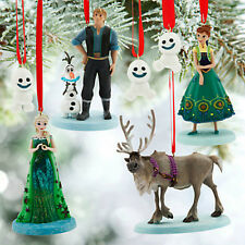 Disney Store Frozen Fever Sketchbook Christmas 7 pc Ornament Set Nib Elsa Anna +