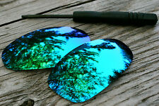 Jade Blue Green Mirrored Polarized Replacement Sunglass Lenses for Oakley Juliet