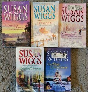 SUSAN WIGGS LAKESHORE CHRONICLES PAPERBACK ROMANCE NOVELS 5 BOOK LOT FREE SHIP