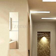 9Pcs 20x20cm Mirrors Self Adhesive Wall Stickers Decal Mosaic Home Bath Decor