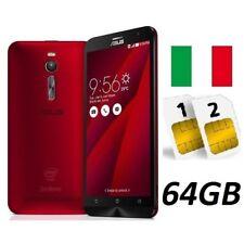 ASUS ZENFONE 2 ZE551ML DUAL SIM 64GB LTE RED GARANZIA 24 MESI ITALIA NO BRAND