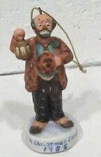 "Emmet Kelly clown 1986 Christmas Carol ornament, Dave Grossman, 3 1/4"" high"