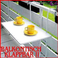 BALKONTISCH KLAPPBAR BALKONHÄNGETISCH BALKONKLAPPTISCH