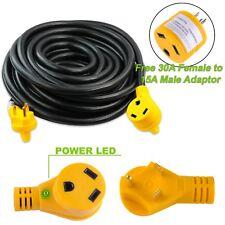 Leisure Cords NEMA TT-30 30 Amp Generator / RV Extension Cord 50ft Standard end
