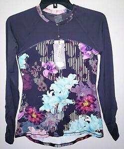 Womens Calia Carrie Underwood Long Sleeve Rashguard Botanical Garden Shirt XS