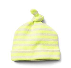 Baby Gap Boy Disney Dumbo Knot Hat Striped Neon Yellow Sweater Newborn 7 lbs NWT
