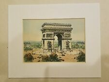 Eugene Louis Veder Hand Colored Etching Chalcographie From Musee Louvre Paris