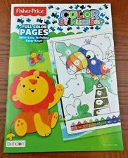 New Bendon Fisher Price Sweet Safari Color By Number Book ~ Educational