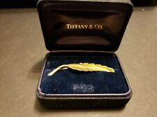 Tiffany & Co. 14k Gold Feather Pin Brooch