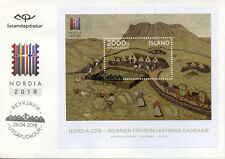 Iceland 2018 FDC Nordia 2018 Farm Animals Horses Cows 1v M/S Cover Stamps