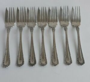 7 Gorham WINTHROP 1896 Silverplate Dessert or Salad Forks