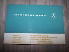 8E - Guide/Notice/Manuel/Carnet d'entretien/Conducteur Mercedes benz Camions