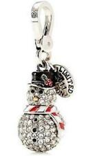 NWT Juicy Couture PAVE Silver SNOWMAN CHARM LTD ED 2011 TAGGED BOX $62  Crystals