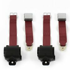 Chevy Bel Air 1955 - 1957 Airplane 2pt BURG Retract Bucket Seat Belt Kit-2 Belts