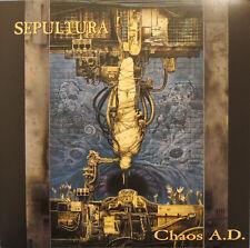 Sepultura Chaos A:D.LP Blue Splattered Vinyl Remastered-Soulfly Nailbomb New