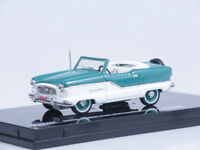 1/43 Scale model 1959 Nash Metropolitan Open Convertible - Blue / White