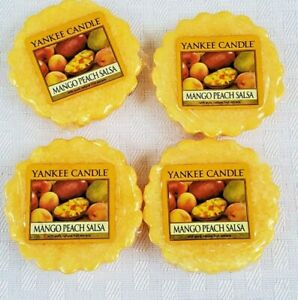 Lot of 4 Yankee Candle Tarts New Old Stock- MANGO PEACH SALSA -Free Shipping-