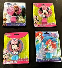 New MINNIE MOUSE Night Lights Sixteen Characters To Choose From: Frozen, Mermaid
