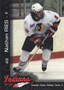 2002-03 Kewadin Casino Indians #8 Nathan Ries
