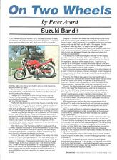 Suzuki GSF400 400 Bandit 1991 Good Motoring road test brochure