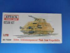 Attack Hobby Kits RESIN 1/72 Schw Schienenpanzer Flak 3cm Kugelblitz RE 72334