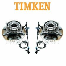 For Chevrolet GMC Hummer Pair Set of 2 Front Wheel Bearings & Hub Assemblies