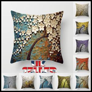 "18"" Vintage 3D Trees Pillows Case Sofa Car Waist Throw Cushion Cover Home Decor"
