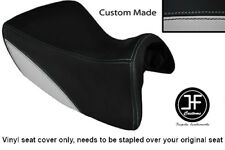 LIGHT GREY BLACK VINYL CUSTOM FOR TRIUMPH TROPHY SE 1215 12-14 FRONT SEAT COVER