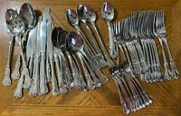 Cambridge Stainless JESSICA Flatware Knives Forks Spoons Teaspoons + Lot of 82