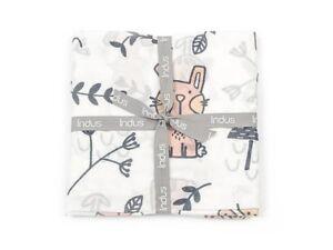 Belle Bunny Muslin Baby Cotton Swaddle Wrap Indus Design