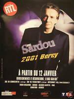 PUBLICITÉ 2001 RTL AVEC MICHEL SARDOU A BERCY - ADVERTISING