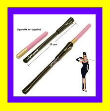 LADIES  CIGARETTE HOLDER 150mm  BLACK WITH DIAMANTES  (EJECTOR STYLE)