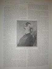 Revisar la señora Sutherland Orr vida de Robert Browning 1891 impresión y artículo