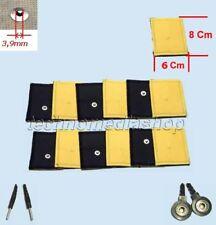 ^btx 12 Elettrodi pezze piccole 6x8 Pelle Daino Universali clip Biosan Miapharma