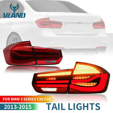 RED LED Sequential Turn Signal Tail Lights For 2013-2015 BMW F30 F35 Rear lamps